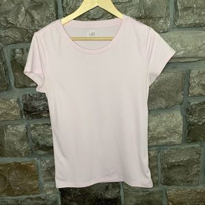 Alo Yoga Pale Pink Workout Tee, M